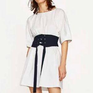 BNWT- Zara poplin corset dress